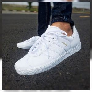 Adidas Gazelle White Leather Men's size 10.5